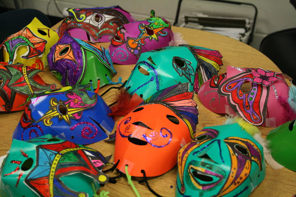 "4th Grade ""Making Masks"" with Annie DeVito"