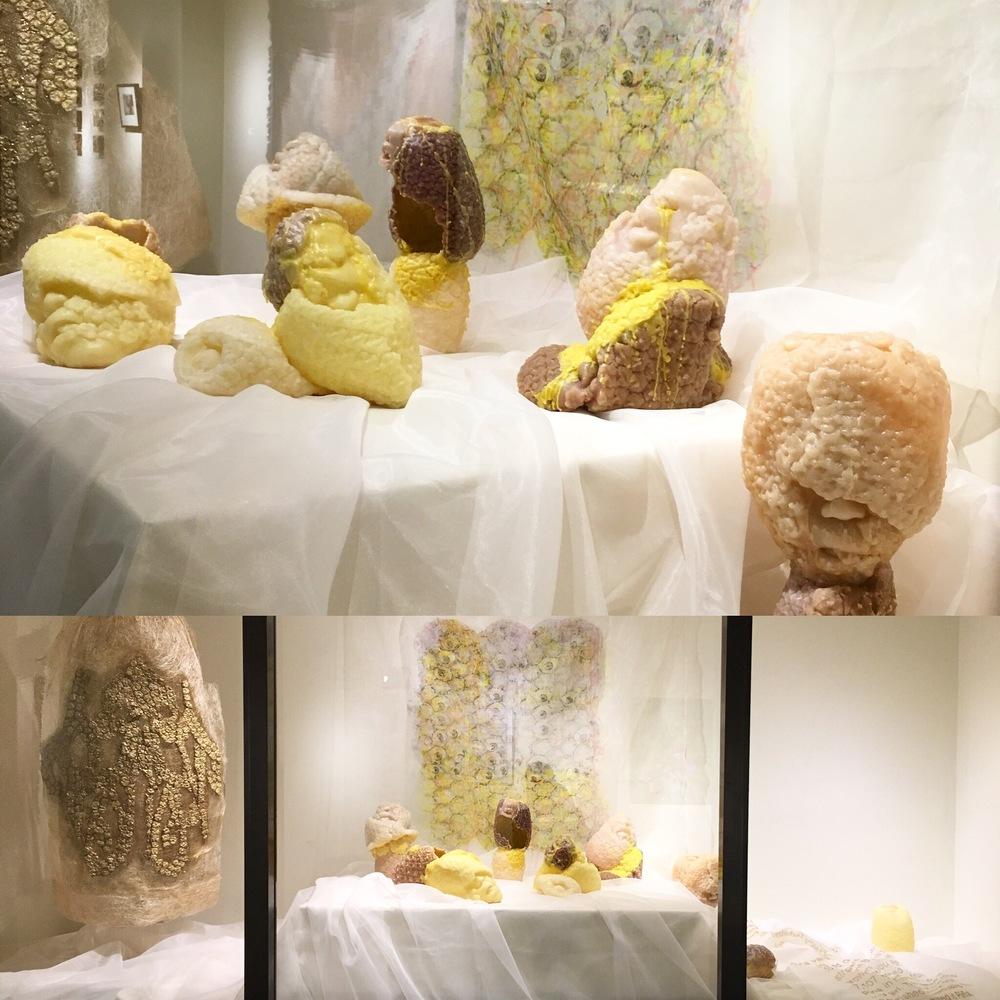 Installation of After Maria Clara's Piña Fiber Sleeve, &Offerings, 2014-2015