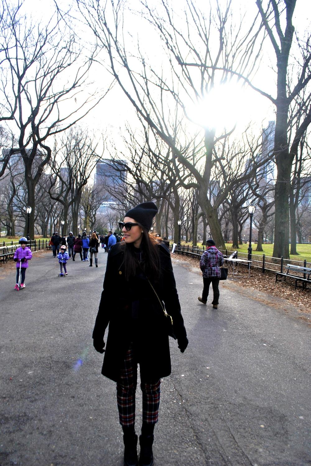 Georgie in Central Park