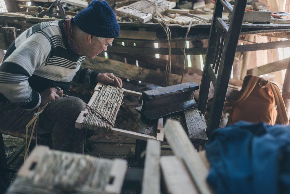 Don Jorge Oses, Totora craftsman