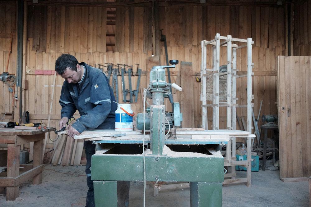 Rodrigo Fuentes, Master cabinet maker