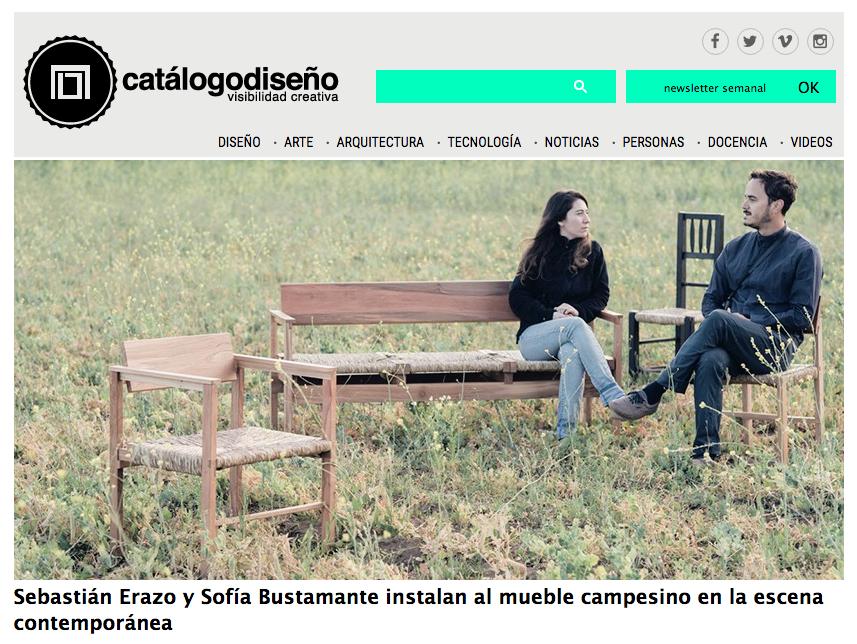 > 23-11 | CATALOGO DISEÑO: Mueble Campesino / Sebastián Erazo + Sofía Bustamante