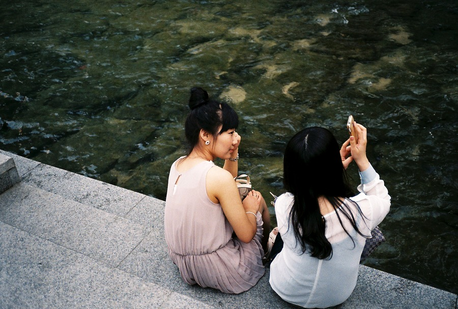 Girl friends in Seoul.