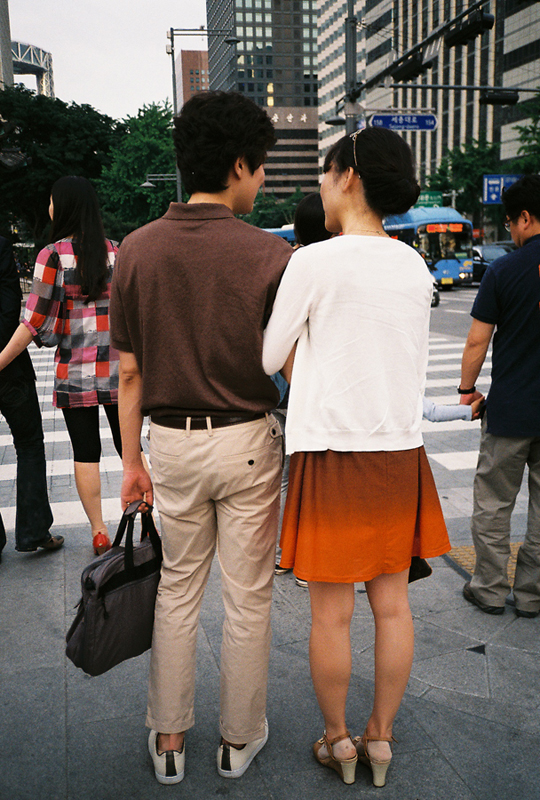 Cute couple in Seoul.