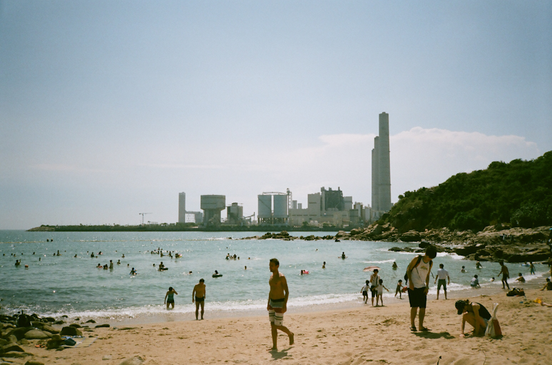 A beach on Lamma Island, Hong Kong.