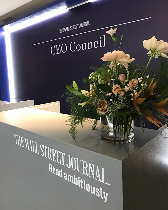 Working at the #wsjceocouncil