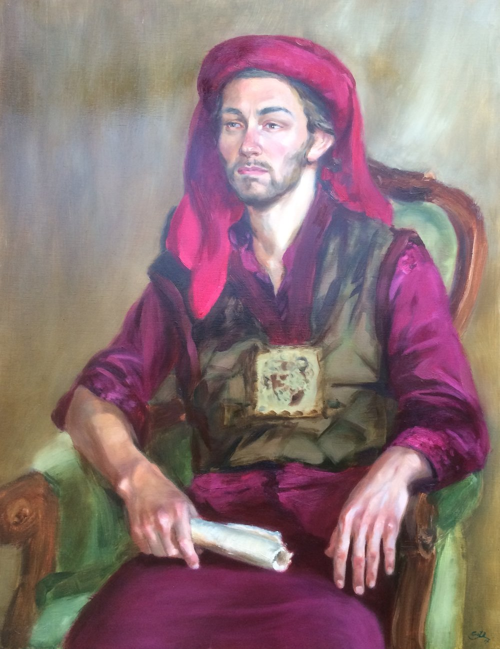 """The Dutch merchant"", oil on linen, Silvia Ilona Klatt"