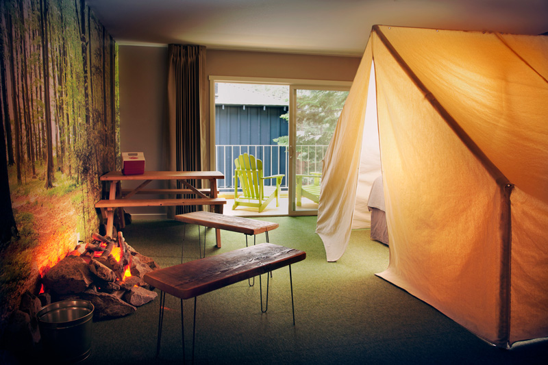 Indoors Camping With Base Camp Hotel Fullinsight
