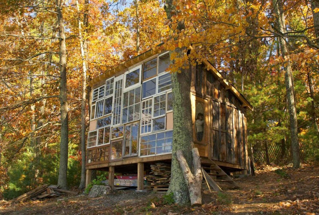 A couple Leaves their Jobs to build a house of windows in the mountains of West Virginia