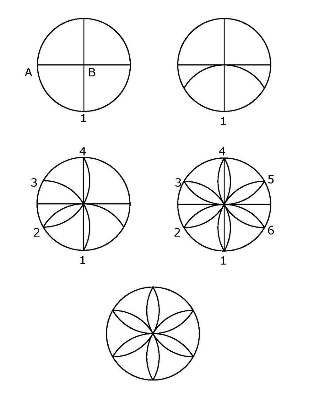 How to draw a rosette