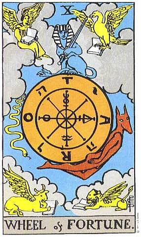 Card 10 The Wheel of Fortune