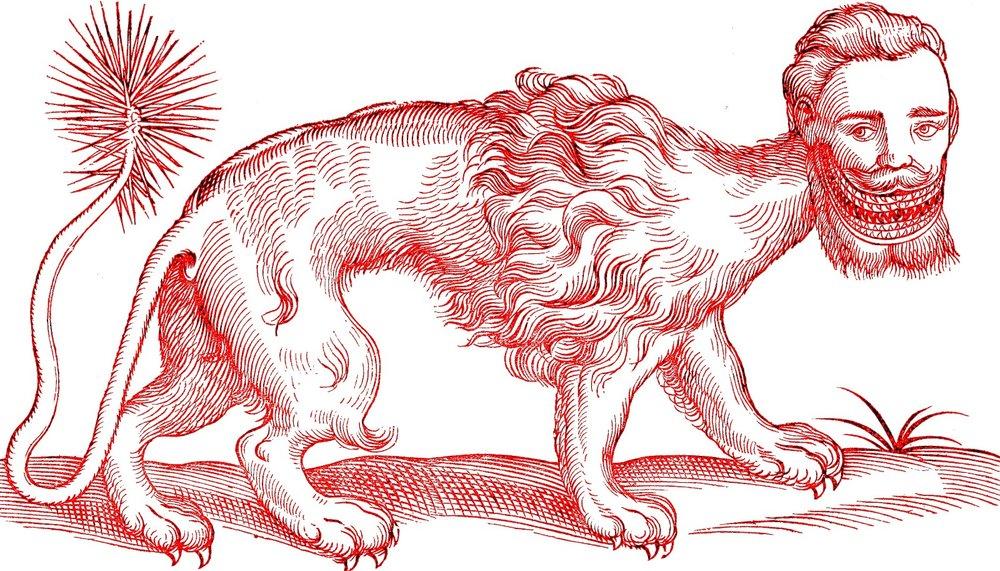 A Manticore, Edward Topsell 1607
