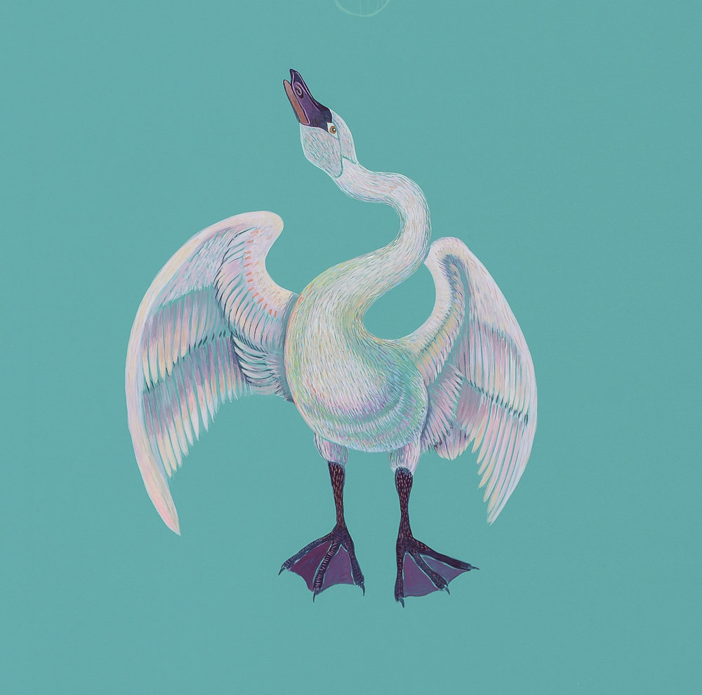 Swan based on Da Vinci's Leda and the Swan