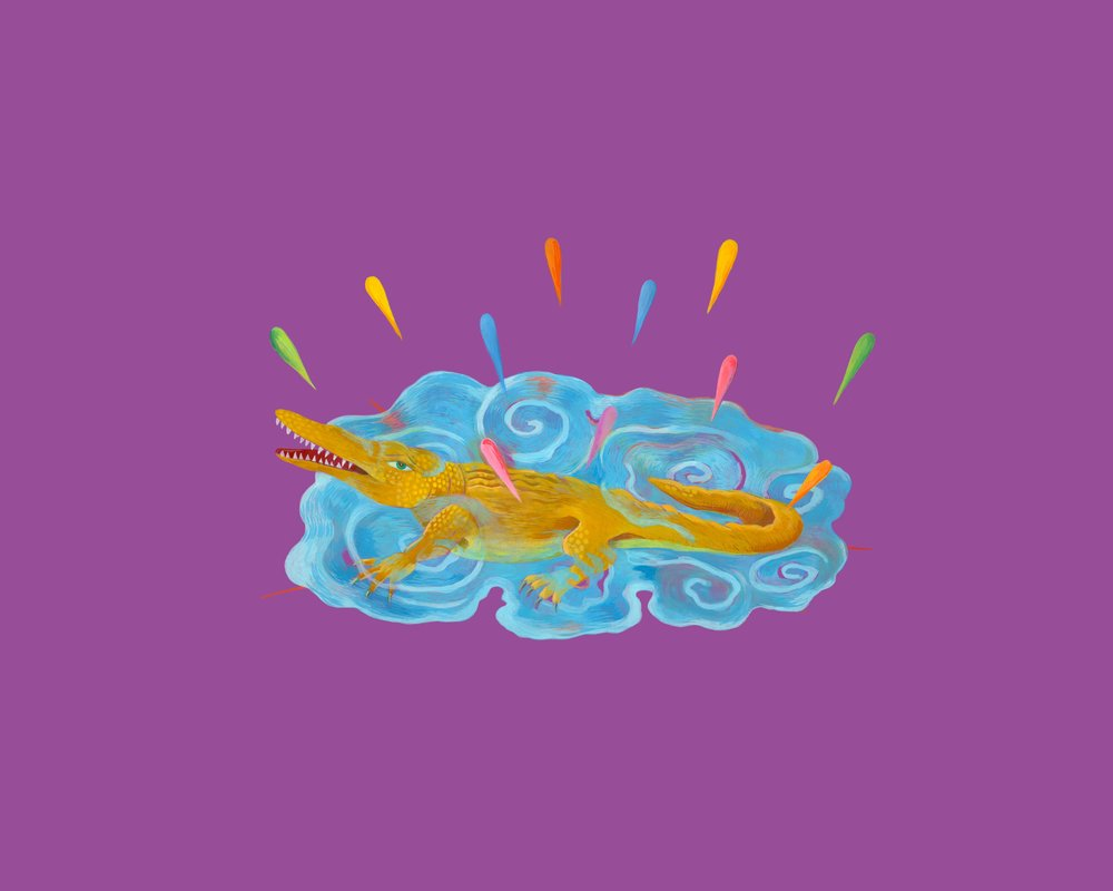 "Salamander (fire)      16"" x 22""      $1800.00"
