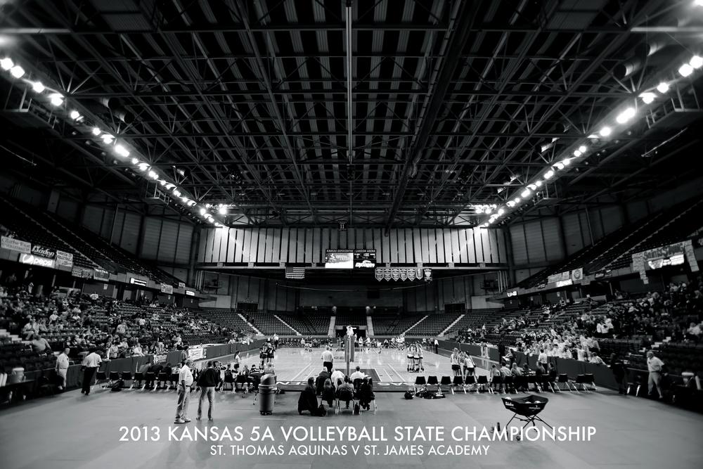 2013 Kansas High School 5A Volleyball State Championship St. Thomas Aquinas V St. James Academy