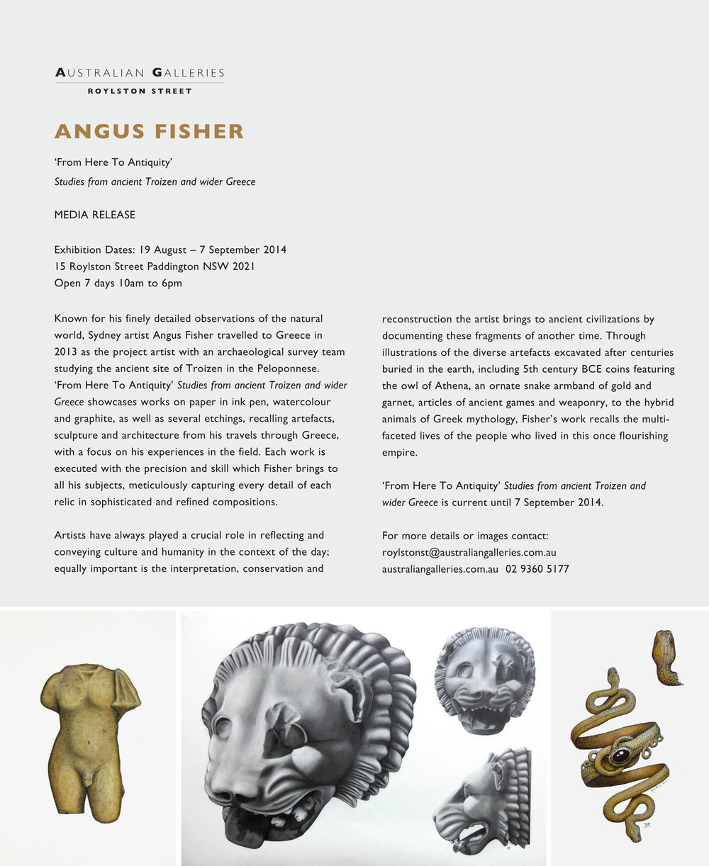 'From Here To Antiquity - Studies from ancient Troizen and wider Greece' Press Release