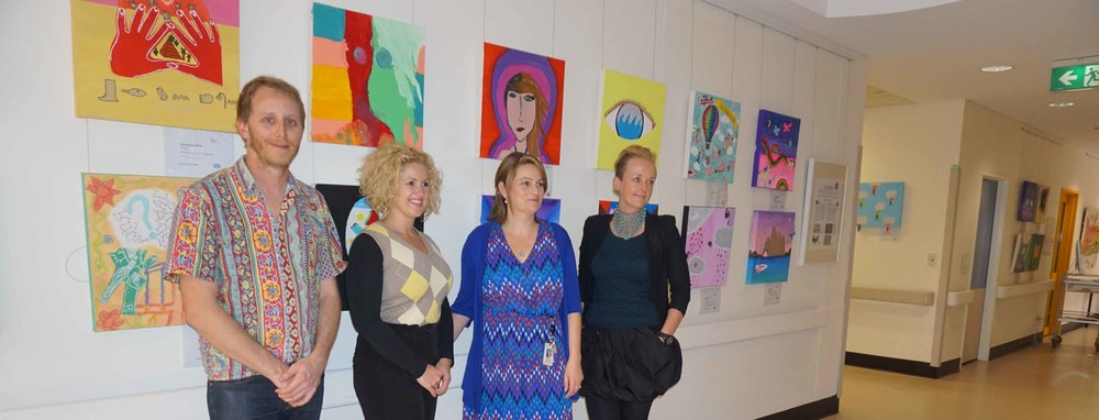 'Unreal' exhibition opening with hospital staff- The Children's Hospital Westmead (02/09/2014)