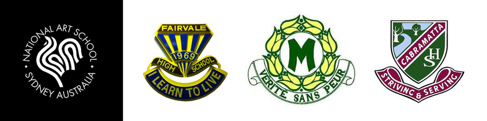 The 'National Art School' as well as the three high schools participating in the 'AIR' program: 'Fairvale', 'Merrylands' and 'Cabramatta'