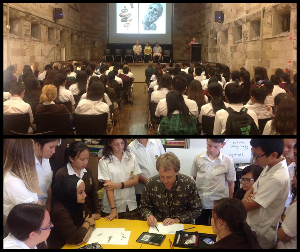 'AIR' program launch at NAS (12/02/2015), Drawing demonstration at Fairvale High (11/03/2015)