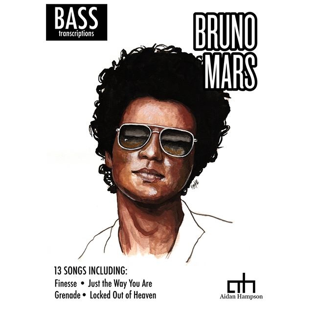 Bruno Mars Bass Songbook - Out Now! 13 songs, only $15  For track list and more info, head to: https://bit.ly/2svJjRo  Cover artwork by Mary Steele