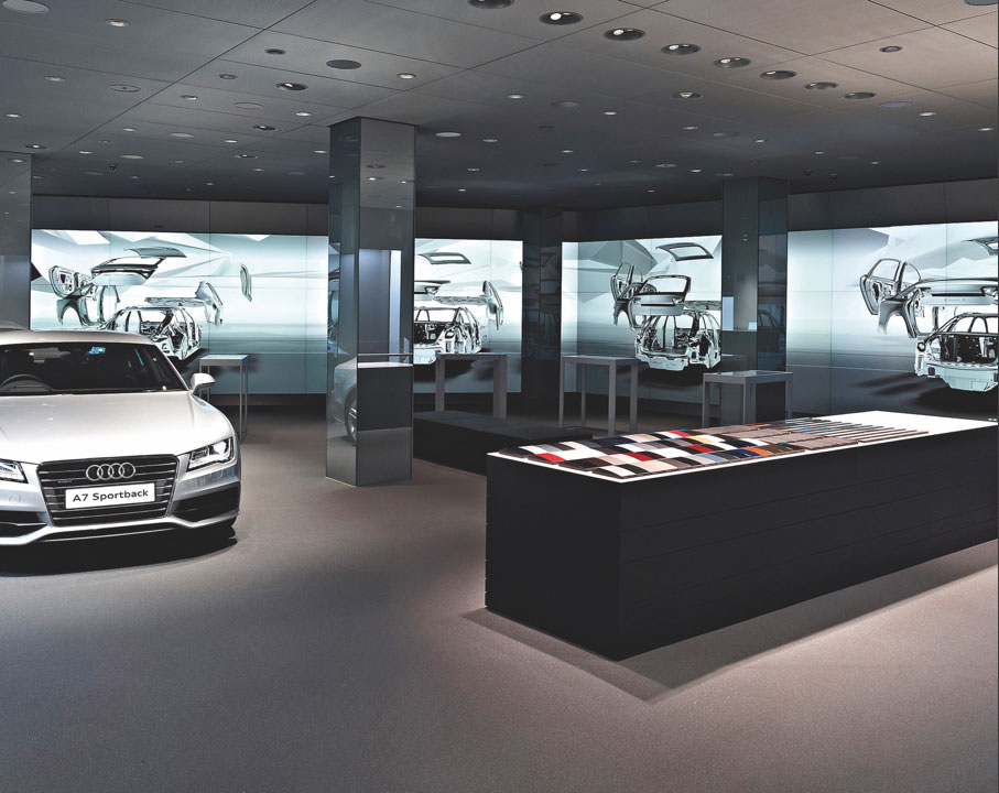 Audi's London digital showroom.