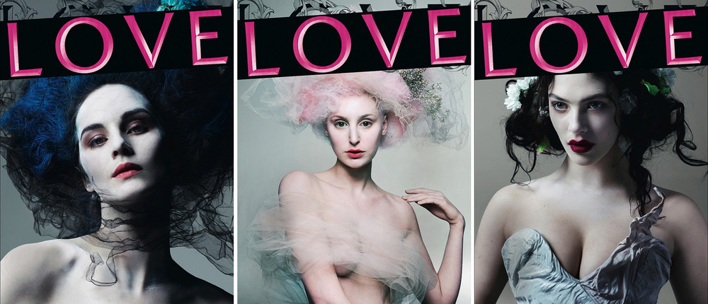 The 3 covers for issue 8 taken from 'Costume Drama' in Love