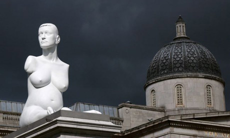 'Alison Lapper Pregnant' whilst housed on Trafalgar Square's Fourth Plinth - Photograph: Dan Regan via www.theguardian.com