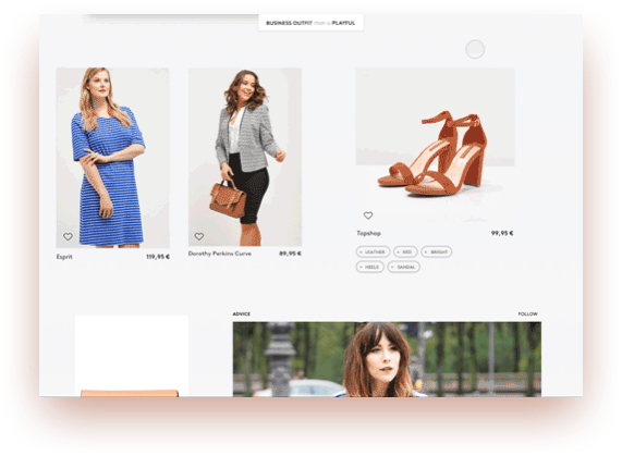 In-line and modal viewing is prioritized over new pages or context-switching. This helps people retain context by mentally staying in one place. For instance, product details expand in the context of browsing and the checkout process is a modal overlay.