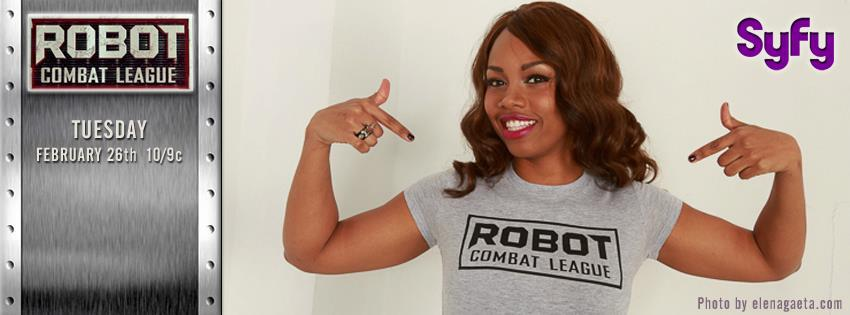 Keisha during her stint on SyFy's Robot Combat League