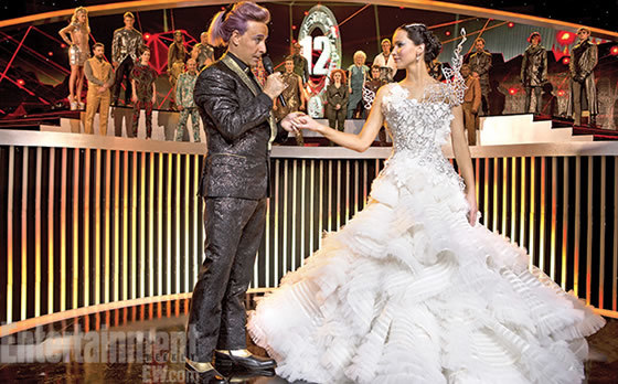 Katniss and Caesar at the quarter quell interview