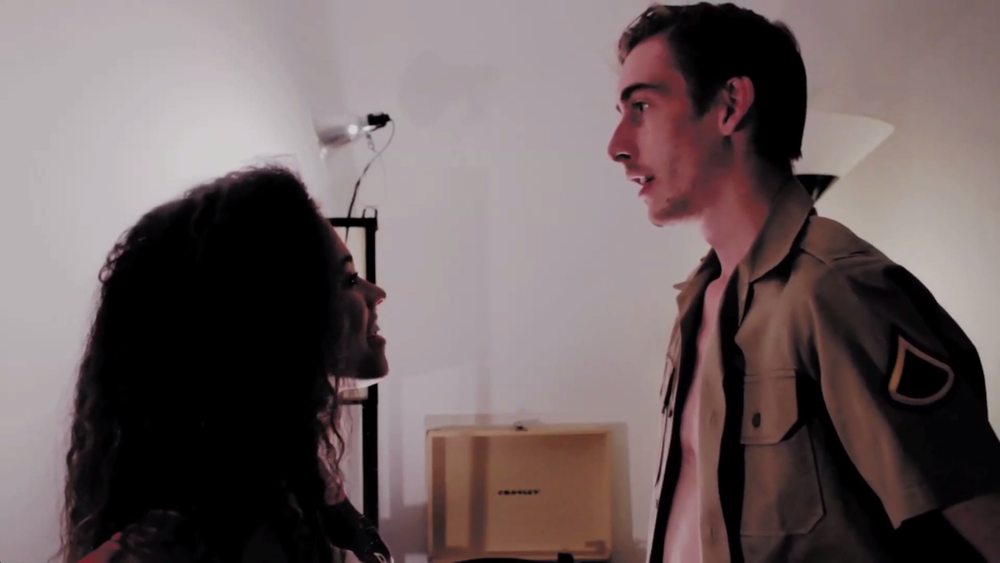 Eryn Allen Kane and her co-star Austin Vesely in Sex Tape Day