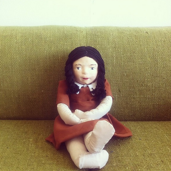 Miranda Levy's awesomely creepy doll creation.