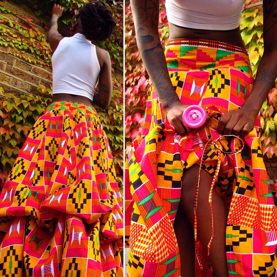 Manaka Fairy Skirt in Kente