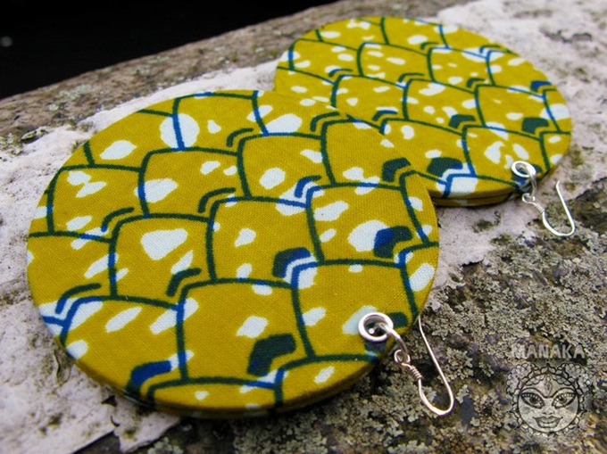 Yellow Brick Road-African Ankara Earrings