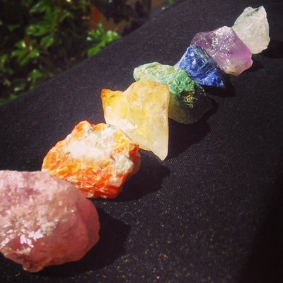 Large Chakra Stone Set (Helps to balance chakras)