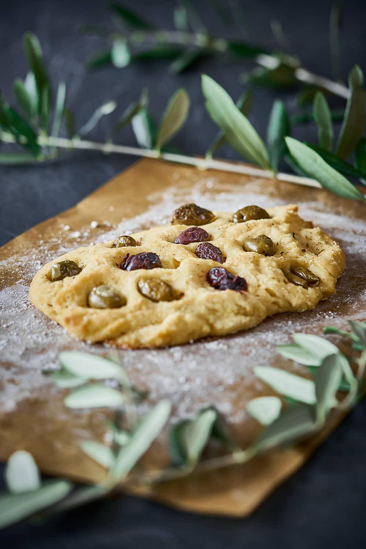 Oliven-Ciabatta - knusprig & glutenfrei