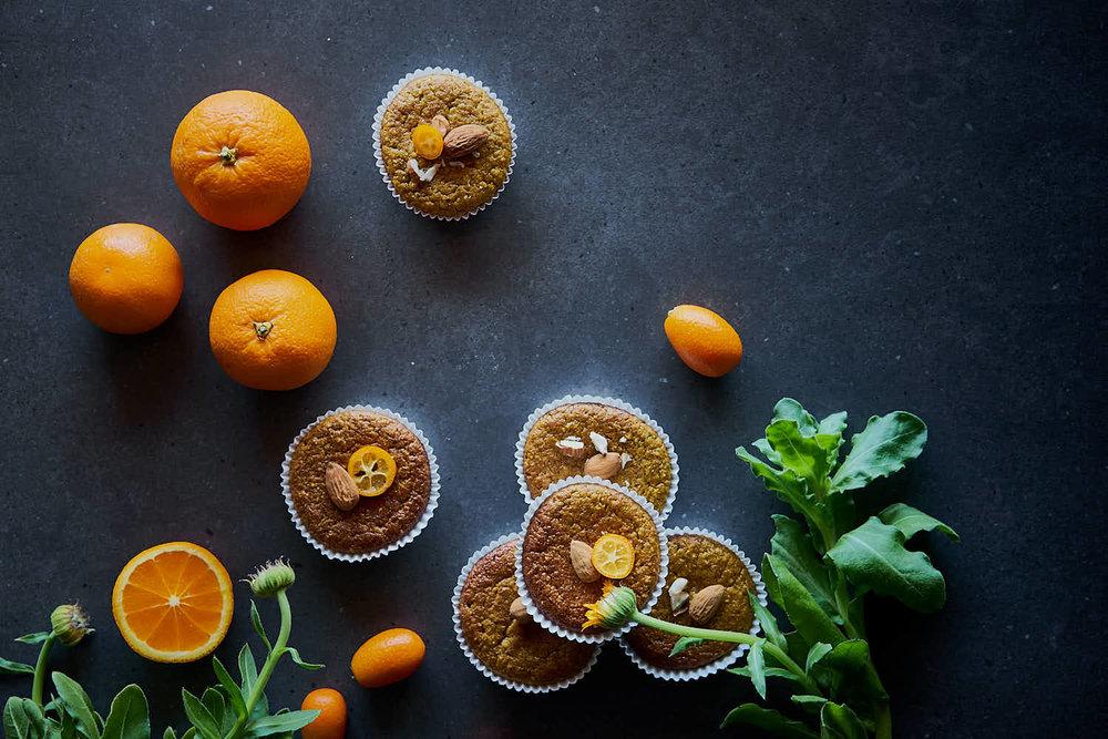 Orangen-Muffins - luftig & glutenfrei