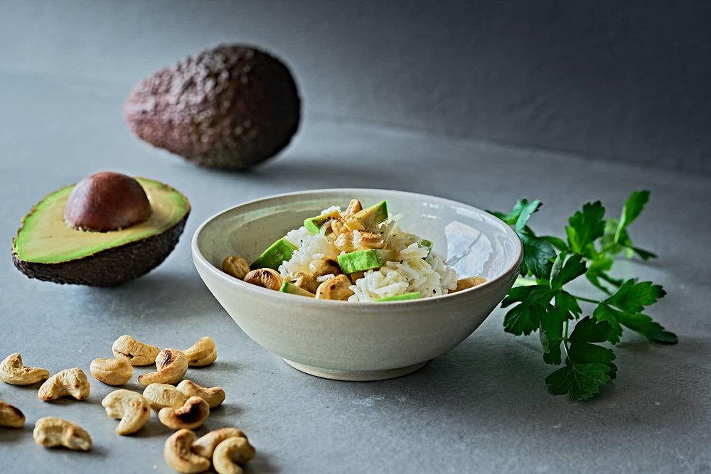 Avocado-Cashewnuss-Reis - leichte Wohlfühlkost