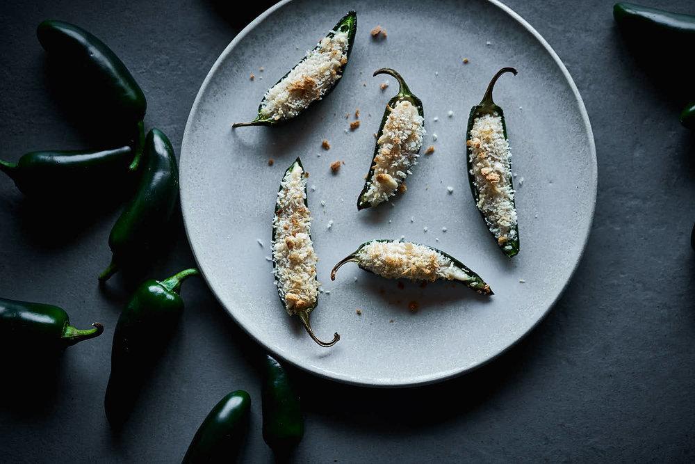 Jalapenos mit Cashewkäse - freurig & crunchie