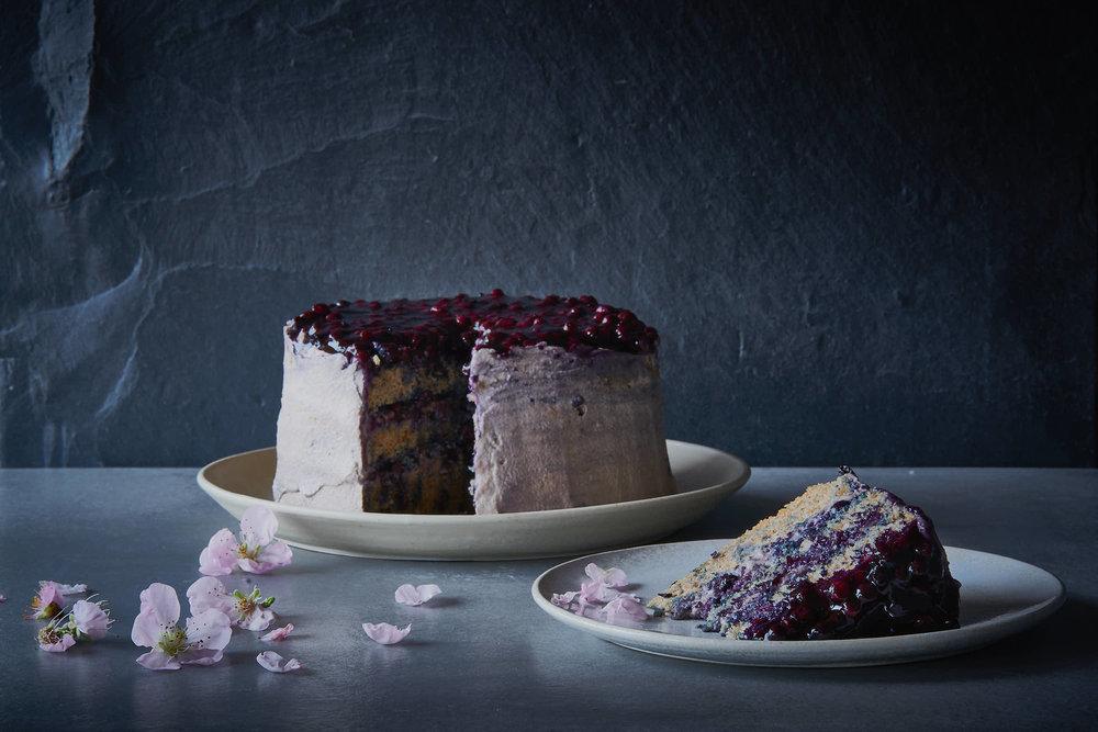 Heidelbeer Biskuit Torte Glutenfrei Rosen Kohl Blog