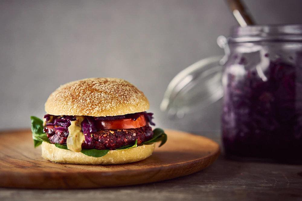 Rote Beete-Burger