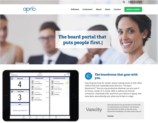 NEW WEBSITE - APRIO.NET