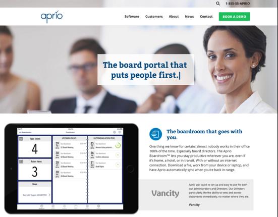NEW WEBSITE - APRIO.NET