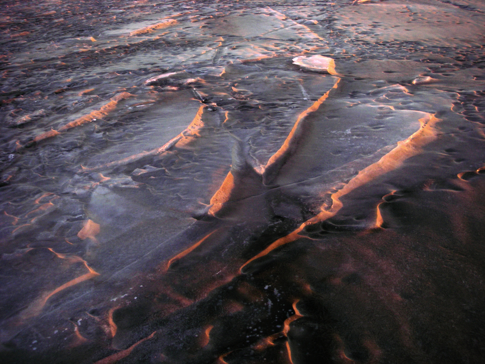 sunset on iceplates.  2012