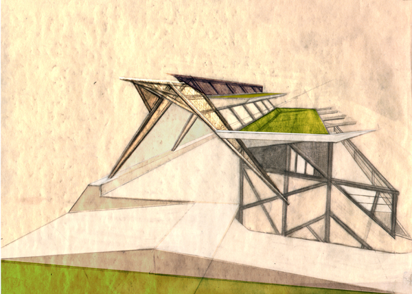 Green-roof concept drawing