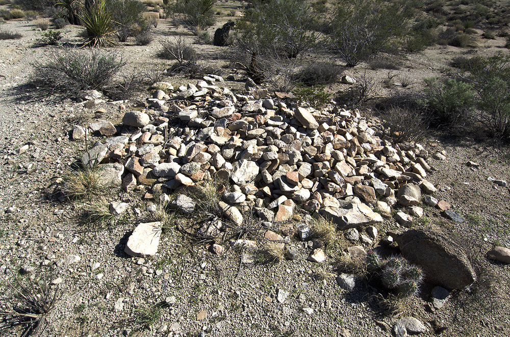 What's this pile of rocks doing here? Possibly a filled in mine shaft?