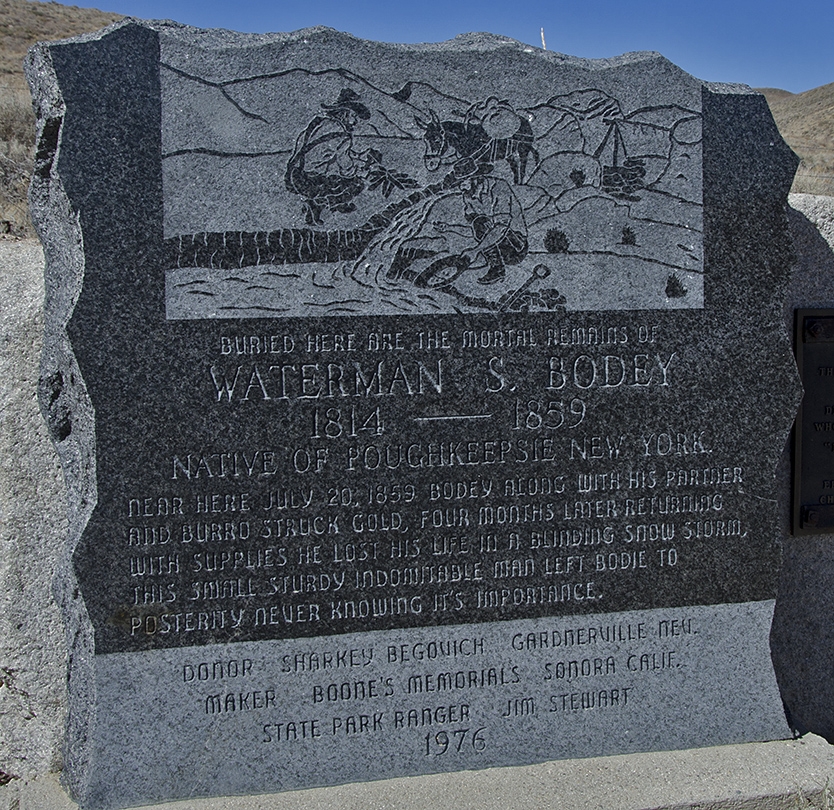 William S. Bodey's final resting spot. He died just four months after discovering gold here.