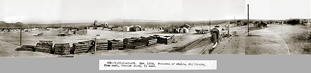 Atolia panorama, circa 1909. Courtesy of the Rand Desert Museum  http://randdesertmuseum.com/site/