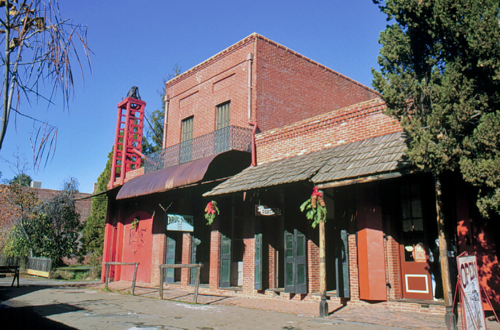 Tuolumne Engine Co. No 1, Duchow's Printing Office, Dentist block