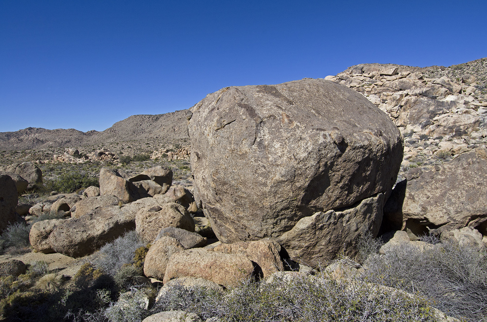 Same boulder, backside view.